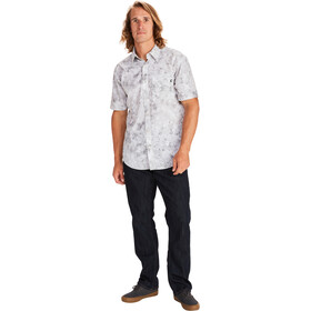 Marmot Bennett Peak SS Shirt Men light grey leaf camo